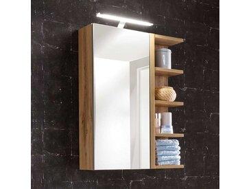 Bad Spiegelschrank mit seitlichem Regal Wildeichefarben