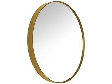 Garderoben Spiegel in Goldfarbebn Metall rund