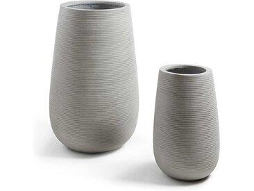 Vasen in Beton Grau modern (2-teilig)