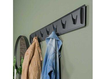 Garderobenleiste in Schwarz aus Stahl 90 cm breit