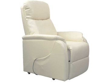 TV Sessel in Creme Weiß elektrisch