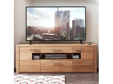 TV Board aus Wildeiche Bianco 160 cm breit
