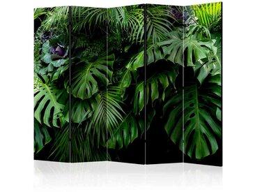 Praxis Paravent mit Dschungelmotiv 225 cm breit