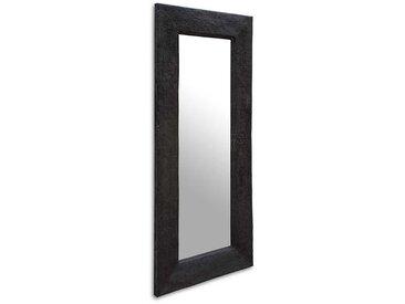 Garderoben Spiegel in Dunkelgrau Wildeiche Massivholz