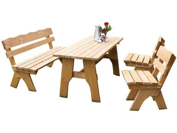 Balkon Sitzgruppe mit Bänken Kiefer Massivholz (4-teilig)