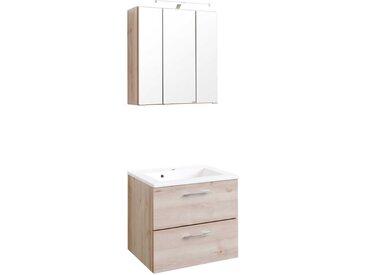 Badmöbel für Gäste WC Buche (zweiteilig)