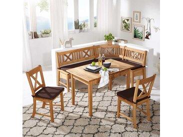 Esszimmer Sitzecke aus Wildeiche Massivholz Landhaus Design (4-teilig)