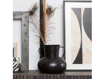 Vintage Vasen aus Stahl Schwarz (4er Set)