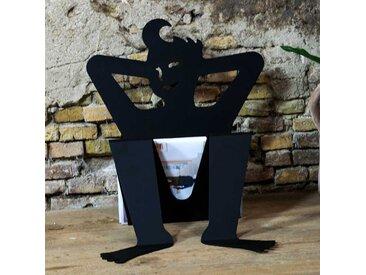Cooler Zeitschriftenhalter in Schwarz Stahl