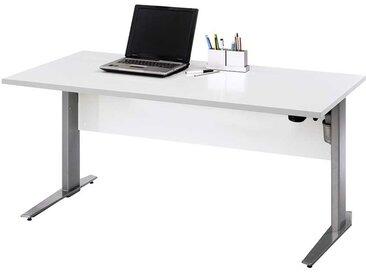 Höhenverstellbarer Schreibtisch in Weiß 150 cm
