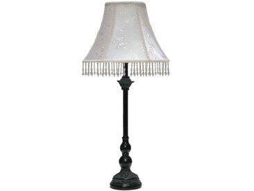 Lampe mit Fransen Schwarz Weiß