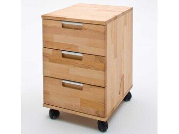 Schreibtischcontainer aus Kernbuche Massivholz geölt