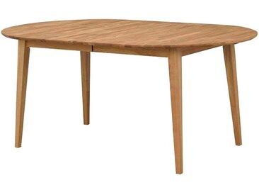 Esszimmertisch aus Eiche Massivholz oval ausziehbar