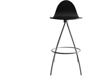 Drehbarer Küchenhocker in Schwarz lackiert modern