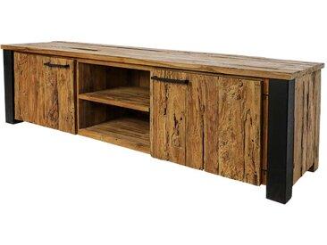 Fernseher Schrank aus Teak Recyclingholz und Eisen 175 cm breit