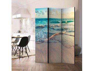 Spanische Wand mit Strand Motiv und Blick zum Horizont 135 cm breit