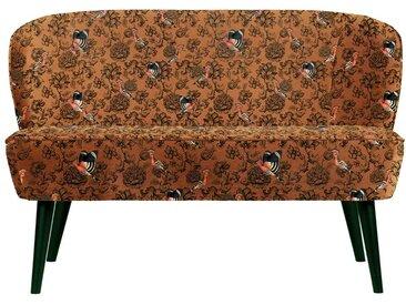 Design Couch im Retro Look Vogel Motiven