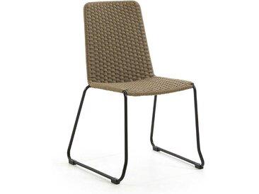 Kordel Geflecht Stühle in Beige In- und Outdoor geeignet (4er Set)