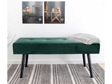 Bettbank in Dunkelgrün Samt Skandi Design