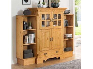 Massivholz Wohnzimmer Set aus Kiefer gebeizt und geölt Landhausstil (3-teilig)