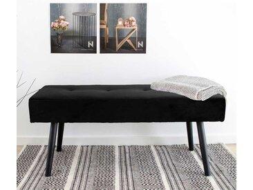 Schlafzimmerbank in Schwarz Samt 100 cm breit
