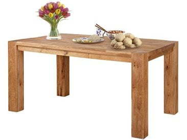 Holztisch aus Eiche Massivholz 2 Ansteckplatten