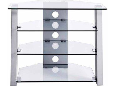 Fernsehmöbel aus Glas Stahl