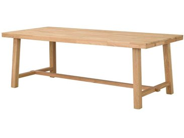 Esszimmertisch aus Eiche Massivholz gebürstet und lackiert