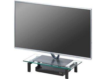 Fernseher Aufsatz in Schwarz Glas