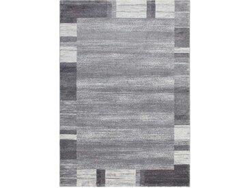 Teppich in dunkel Grau und Silberfarben Kurzflor