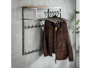 Garderobe aus Hartholz und Metall hängend