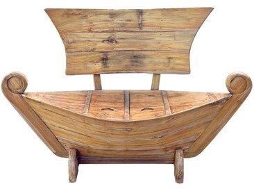 Bootbank aus Teak Massivholz rustikalen Landhausstil