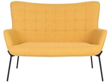 Eßzimmerbank in Gelb Schwarz Webstoff