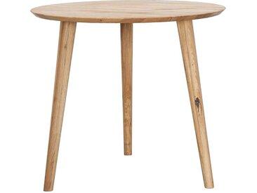 Esszimmer Tisch aus Wildeiche Massivholz rund