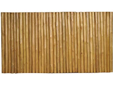 Design Kopfteil aus Teak Massivholz 220 cm breit
