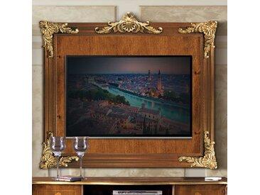 TV Wandhalterung in Nussbaumfarben 150 cm breit
