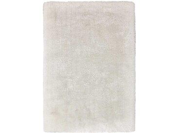 Weißer Teppich aus Hochflor modern