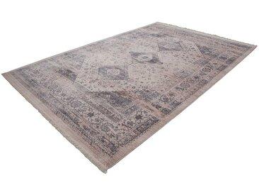 Orientalischer Teppich aus Kurzflor Silberfarben und Beige