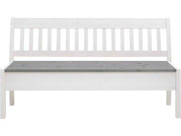 Stauraum Sitzbank in Weiß und Grau Kiefer Massivholz