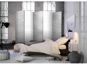 Raumteilerparavent mit Wellenmuster im Moire Look 225 cm breit