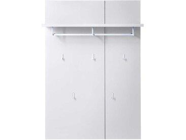 Garderobe in Weiß 80 cm breit