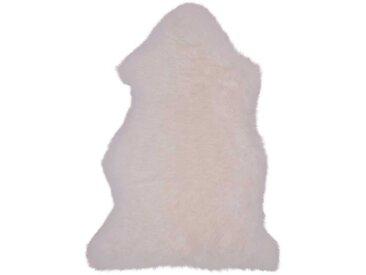 Schaffell Teppich in Cremefarben 85 cm breit