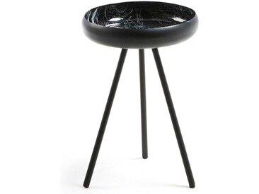 Runder Beitisch aus Eisen Schwarz