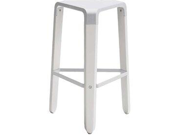 Sitzhocker in Weiß dreieckig
