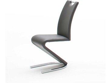 Swingstuhl aus Kunstleder Grau (2er Set)