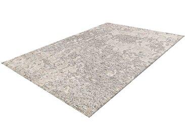 Kurzflorteppich in hell Grau und Creme Weiß 2 cm hoch