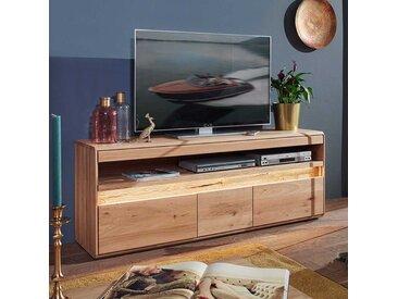 Fernsehboard aus Wildeiche Massivholz LED Beleuchtung