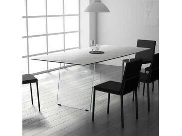 Glaswangen Esstisch mit Keramikplatte Grau