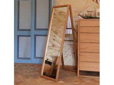 Standspiegel aus Eiche Massivholz 60 cm breit