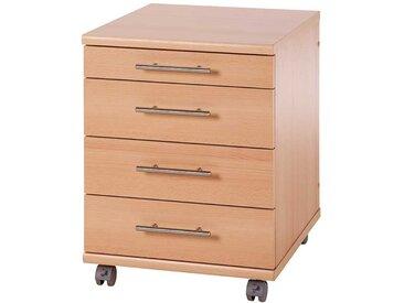 Schreibtisch Rollcontainer mit 3 Schubladen Buche
